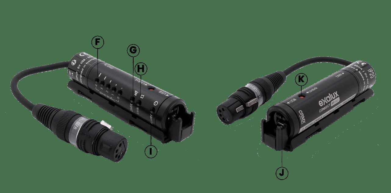 USB-powered wireless DMX receiver LumenRadio CRMX